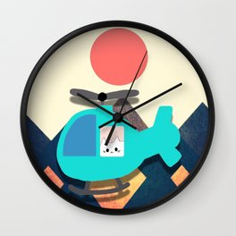 cat 595 Wall Clock