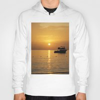 jamaica Hoodies featuring Sunset in Jamaica  by Jason Carnegie