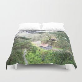 Restored Train Depot Duvet Cover