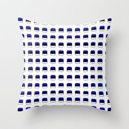 Flag of estonia 5 with soft square Throw Pillow