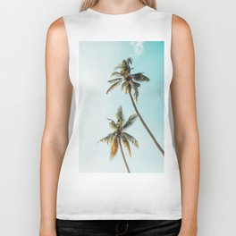 Palm Tree Beach Summer Biker Tank