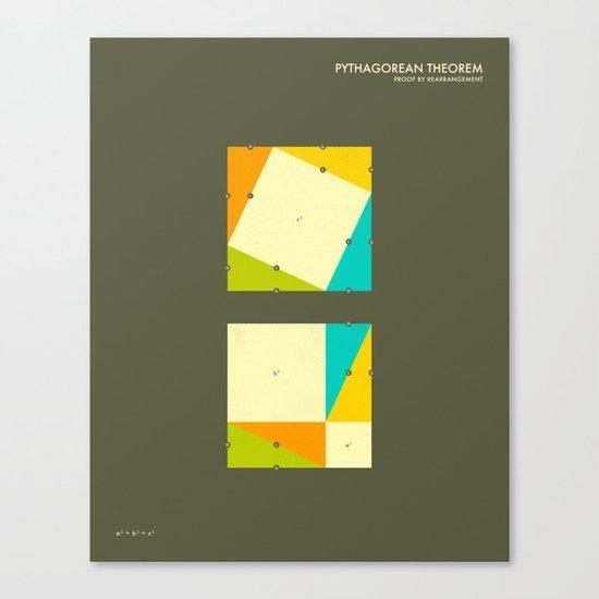 PYTHAGOREAN THEOREM: a proof by rearrangement Canvas Print
