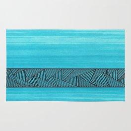 Light Blue Background Rug
