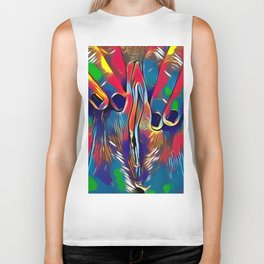 9978s-KD Abstract Yoni Pop Color Erotica Explicit Psychedelic Self Love Biker Tank