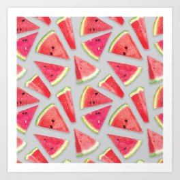 Watermelon Pattern Creation 3 Art Print