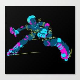 Electric Skater Canvas Print