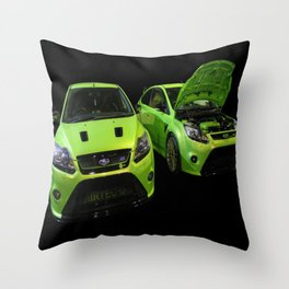 Two Green Focus RS Throw Pillow