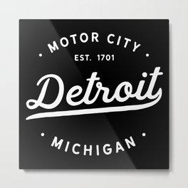 Motor City Detroit Metal Print
