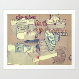 Sometimes Drawing is Better. Art Print