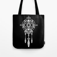 cosmic Tote Bags featuring Cosmic Dreamcatcher by Picomodi