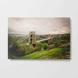 Bristol- Clifton Suspension Bridge Panorama Metal Print