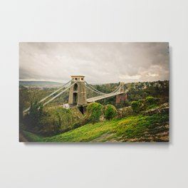 Bristol- Clifton Suspension Bridge Panorama Metal Print