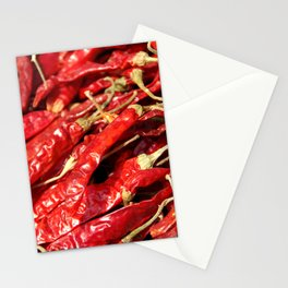 Red Chilies Drying Kathmandu Stationery Cards