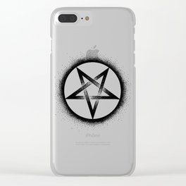 Inverted Pentagram Clear iPhone Case