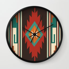 American Native Pattern No. 32 Wall Clock