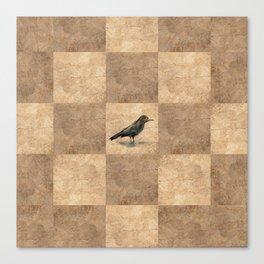 Patchwork Crow Canvas Print