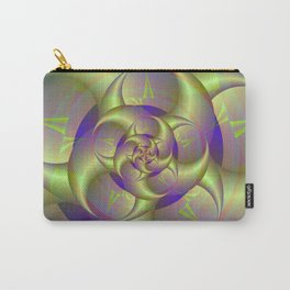 Spiral Pincers in Blue and Green Carry-All Pouch