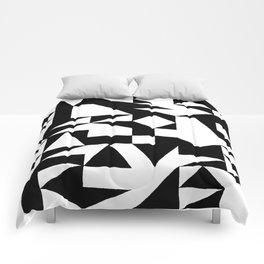 English Square (Black & White) Comforters