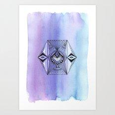 Geometric Hexagon 1 Art Print