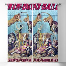 1910 Barnum & Bailey Circus Dancing Lions - M'lle Adgi's Acting Vintage Poster Blackout Curtain