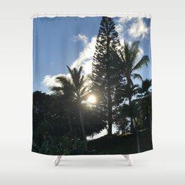 Hawaiian Sun peaking through the Trees Shower Curtain