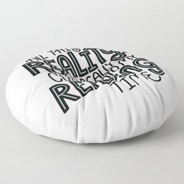 Reality Vs. Reading Time - Black Mint Floor Pillow