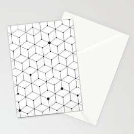 stroke of cube Stationery Cards