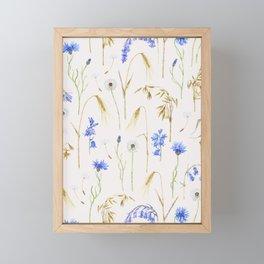Wild Grain Meadow - Neutral Framed Mini Art Print