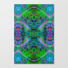 Techno Electric IV (Ultraviolet) Canvas Print