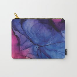 Pondering- Blue and Blush- Alcohol Ink Painting Carry-All Pouch