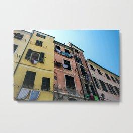 Vernazza Buildings Metal Print
