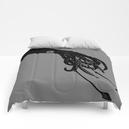 Architeuthis (Giant Squid) Vector Art Comforters