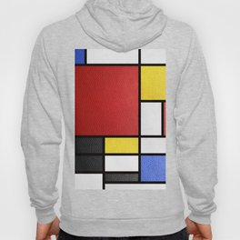 Mondrian in a Leather-Style Hoody