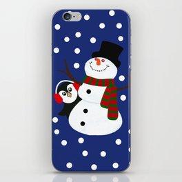 Cute Penguin Snowman Holiday Design iPhone Skin