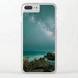 Milky way in the sky of Sardinia Clear iPhone Case