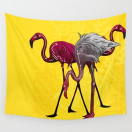 The Flamingo Gang Wall Tapestry