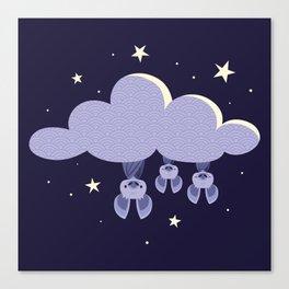Dreaming bats Canvas Print