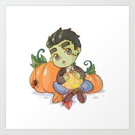 Little Frankenstein's monster Art Print