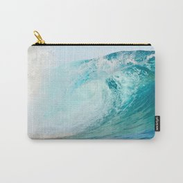 Pacific big surfing wave breaking Carry-All Pouch