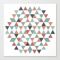 hexagon Canvas Prints featuring Hexagon by Pavel Saksin