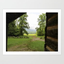 Looking Out from the Cabin Art Print