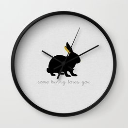 Some Bunny Loves You Wall Clock