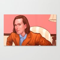 wes anderson Canvas Prints featuring Wes Anderson by Jacob Sanders