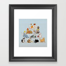 Cats Pyramid Framed Art Print