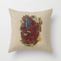 apollo Throw Pillows featuring - apollo - by Magdalla Del Fresto