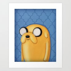 Jake Adventure Time Art Print