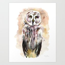 Gary The Great Gray Owl Art Print