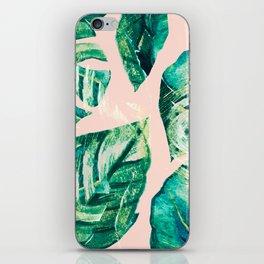 Leaf watercolor pastel iPhone Skin