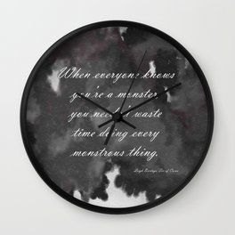 Monstrous Thing - Six of Crows Wall Clock