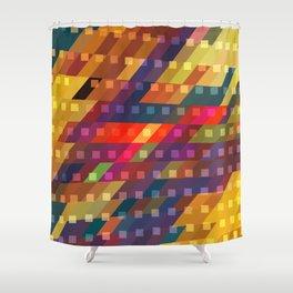 urban light flash Shower Curtain
